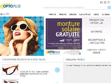 Clinique Optométrique Opto Plus De St-Hyacinthe (450-773-5555) - Website thumbnail - http://www.optoplus.com