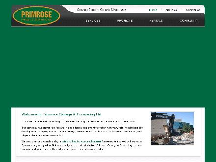Primrose Cartage Ltd (613-836-1308) - Website thumbnail - http://www.primroseexcavating.ca/