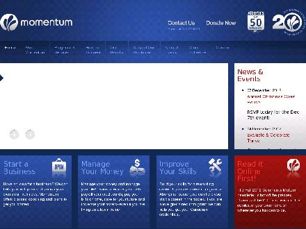 Momentum (403-272-9323) - Website thumbnail - http://www.momentum.org