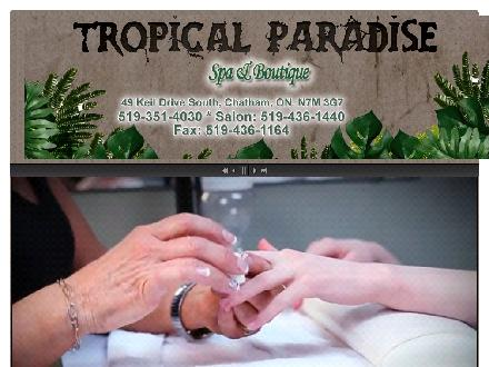 Tropical Paradise Spa &amp; Boutique (519-351-4030) - Onglet de site Web - http://www.tropicalparadise.on.ca
