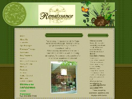 Renaissance Massage Therapy Clinic And Spa (519-850-7160) - Website thumbnail - http://www.renaissancemassage.ca
