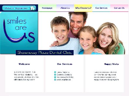 Shawnessy Plaza Dental Clinic (403-254-1124) - Onglet de site Web - http://www.smilesareus.ca