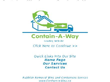 Contain-A-Way Services (250-248-9123) - Website thumbnail - http://www.contain-a-way.ca