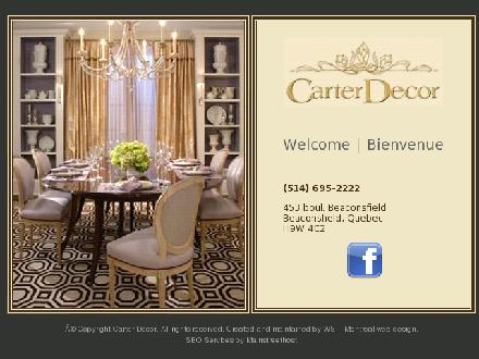 Carter Decor (514-695-2222) - Website thumbnail - http://www.carterdecor.com
