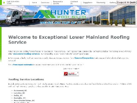 Hunter Roofing Ltd (604-439-2000) - Website thumbnail - http://www.hunterroofing.com