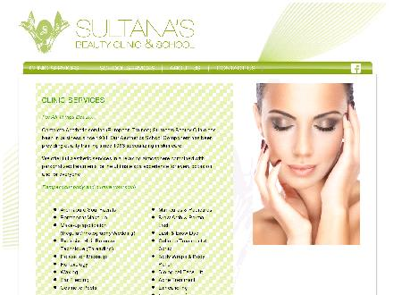 Sultana's Beauty Clinic (403-342-5525) - Website thumbnail - http://www.sultanasbeauty.com