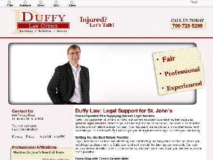 Duffy Law Office (709-726-5298) - Website thumbnail - http://duffylaw.ca/