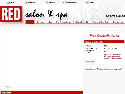 Red Salon & Spa (613-792-4488) - Onglet de site Web - http://www.redsalonandspa.ca