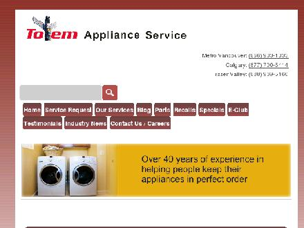 Totem Appliance &amp; Refrigeration Ltd (604-696-4742) - Website thumbnail - http://www.totemappliance.com