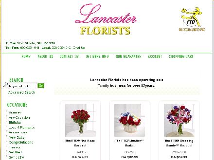 Lancaster Florists (506-635-1040) - Onglet de site Web - http://www.lancasterflorists.com