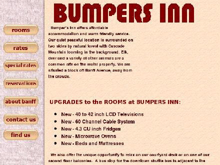 Bumpers Inn (403-760-1552) - Website thumbnail - http://www.bumpersinn.com
