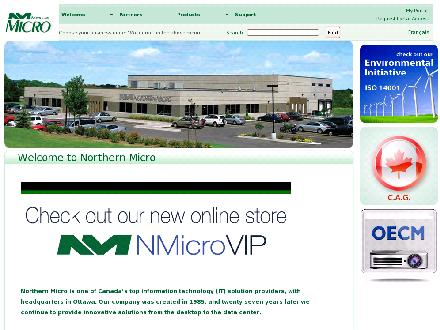 Northern Micro (613-226-1117) - Onglet de site Web - http://www.northernmicro.com
