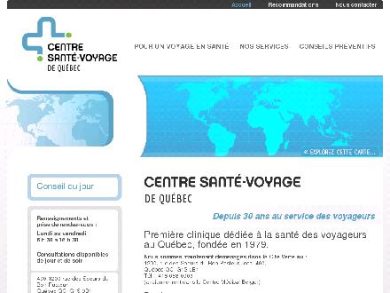 Sant&eacute;-Voyage De Qu&eacute;bec (418-688-0003) - Onglet de site Web - http://www.santevoyage.net