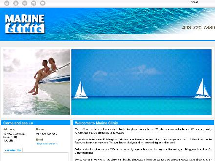 Marine Clinic (403-720-7880) - Website thumbnail - http://marineclinic.ca/