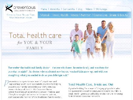 Preventous Collaborative Health (403-229-0129) - Website thumbnail - http://www.preventous.com