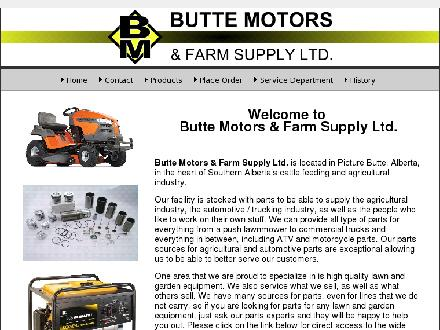 Butte Motors & Farm Supply Ltd (403-732-4406) - Website thumbnail - http://www.buttemotors.com