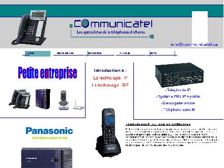Communicatel Inc (450-565-4484) - Onglet de site Web - http://www.communicatel.ca