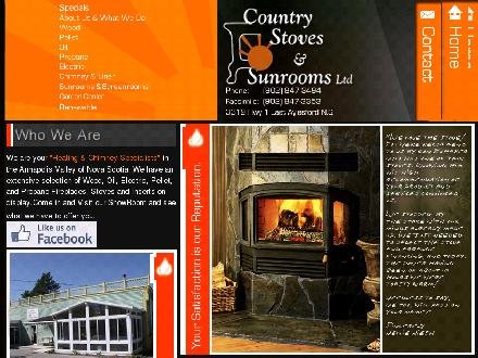 Country Stoves And Sunrooms Ltd (1-877-240-7946) - Onglet de site Web - http://www.countrystovesandsunrooms.com
