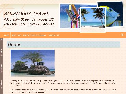 Sampaguita Travel (604-874-9533) - Onglet de site Web - http://www.sampaguitatravel.com