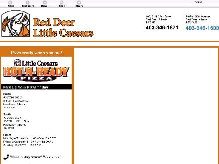 Little Caesars (403-406-0270) - Website thumbnail - http://littlecaesarsreddeer.ca/