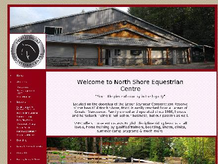 North Shore Equestrian Center Ltd (604-988-5131) - Onglet de site Web - http://www.wecreateriders.com