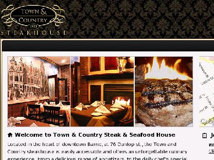 Town & Country Steak House (705-726-5241) - Website thumbnail - http://www.townandcountrysteakhouse.com