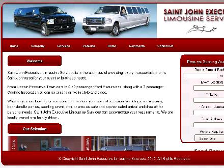 Saint John Executive Limousine (506-642-5466) - Website thumbnail - http://www.saintjohnlimo.com