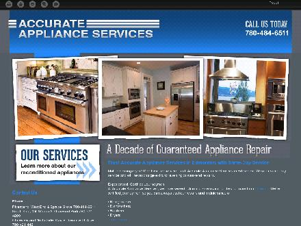 Accurate Appliance Services (780-484-6511) - Onglet de site Web - http://accurateapplianceservices.ca/