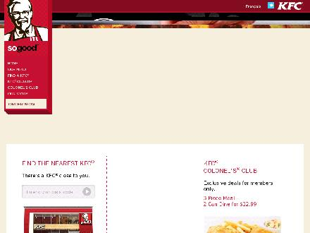 KFC - Brampton (416-244-4444) - Website thumbnail - http://www.kfc.ca