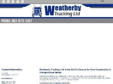 Weatherby Trucking Ltd (867-873-1767) - Website thumbnail - http://wtlnwt.ca/