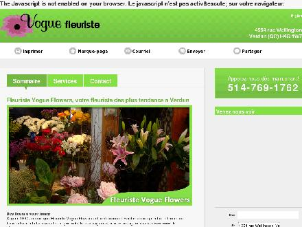 Vogue Fleuriste/Vogue Flowers (514-769-1762) - Website thumbnail - http://fleuristevogueflowers.com