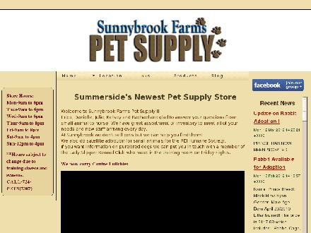 Sunnybrook Farms Pet Supply (902-724-7387) - Onglet de site Web - http://www.sunnybrookfarmspetsupply.com