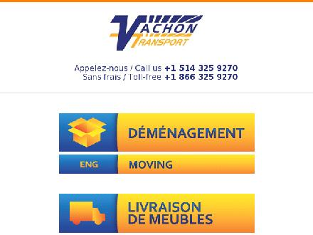 Vachon Transport Inc (514-418-9114) - Onglet de site Web - http://vachontransport.com/