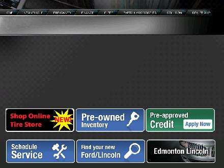 Koch Ford Lincoln Sales (2003) Ltd (780-434-8411) - Website thumbnail - http://www.kochfordlincoln.com