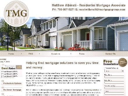 TMG The Mortgage Group (780-538-0061) - Onglet de site Web - http://www.mortgagebymatt.ca