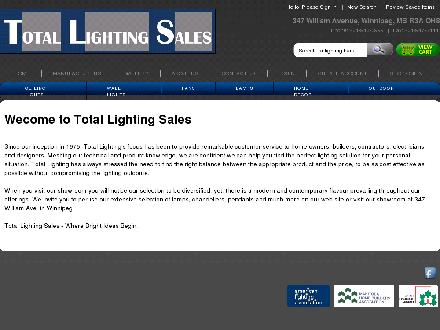 Total Lighting Sales (204-943-0999) - Website thumbnail - http://www.totallighting.mb.ca