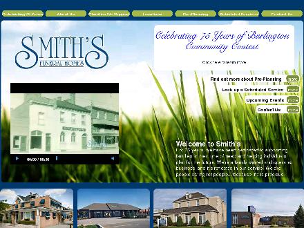 Smith's Funeral Homes (905-632-3333) - Onglet de site Web - http://www.smithsfh.com