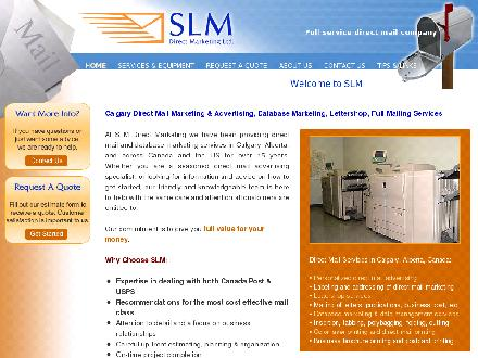 SLM Direct Marketing (403-543-3222) - Onglet de site Web - http://www.slmdirectmarketing.com