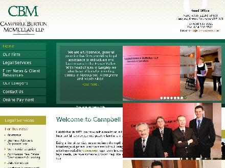 Campbell Burton &amp; McMullan LLP (604-852-6685) - Website thumbnail - http://www.cbmlawyers.com