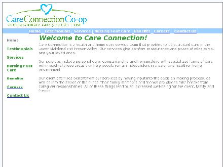 Care Connection Health Services Co-Operative (604-826-6112) - Onglet de site Web - http://www.careconnectionco-op.ca