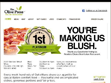 Olive Press The (905-827-4241) - Website thumbnail - http://www.olivepress.ca