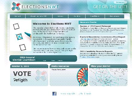 Elections NWT - Onglet de site Web - http://www.electionsnwt.com