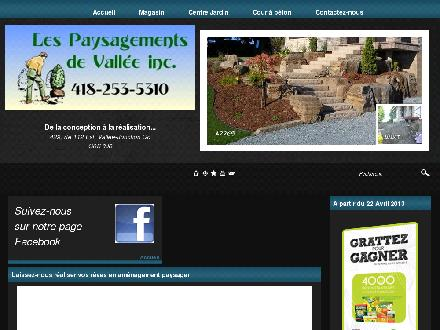 Paysagements de Vall&eacute;e Inc (Les) (1-866-309-2339) - Onglet de site Web - http://www.paysagementsdevallee.com