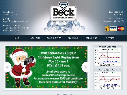 Beck Gold and Diamond Brokers (780-474-7447) - Website thumbnail - http://www.beckdiamonds.com