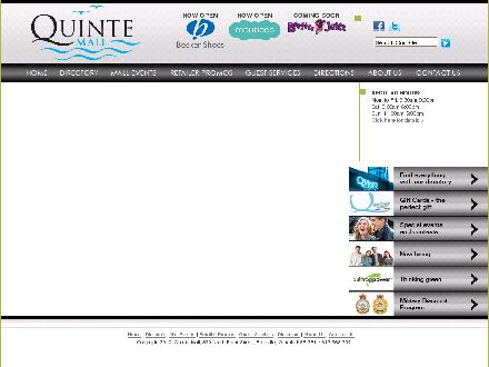 Quinte Mall (613-968-3571) - Website thumbnail - http://www.quintemall.com
