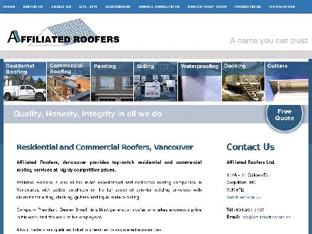 Affiliated Roofers (604-937-7730) - Website thumbnail - http://www.affiliatedroofers.ca