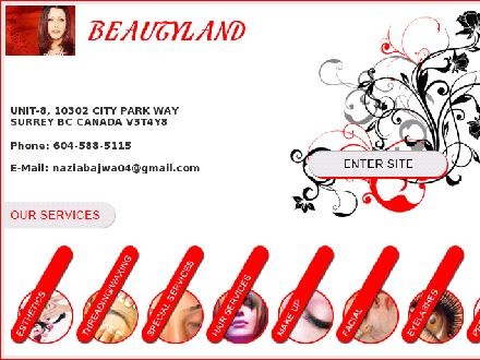 Beautyland Salon (604-588-5115) - Website thumbnail - http://www.beautyland.ca