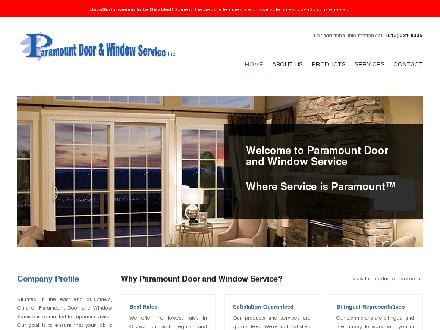Paramount Door & Window Service (613-321-0335) - Website thumbnail - http://www.paramountdws.ca