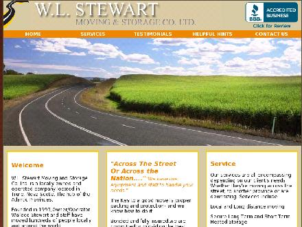 W L Stewart Moving & Storage (902-897-7433) - Onglet de site Web - http://www.wlstewartmoving.ca