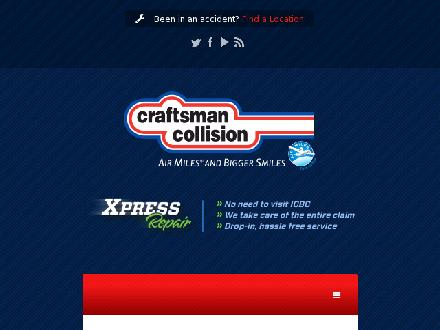 Craftsman Collision (604-873-3358) - Website thumbnail - http://www.craftsmancollision.com